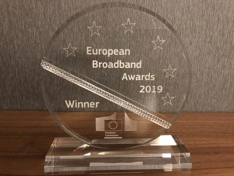 Od e-Županije do vrha Europe: RUNE dobitnik nagrade EU za širokopojasnu mrežu 2019.